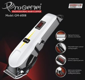 Gemei Gm-6008 Rechargeable Hair Clipper Trimmer (MOQ:10p)