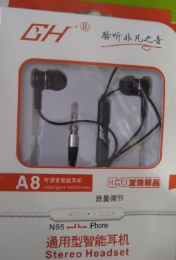 GH Earphone A8 (MOQ:10P)
