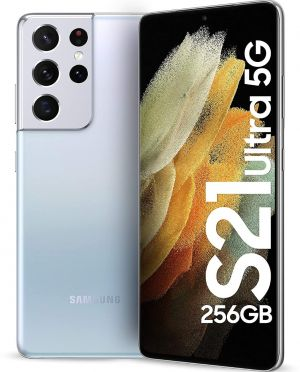 Samsung Galaxy S21 Ultra 5G (Phantom Silver, 12GB, 256GB Storage) with No Cost EMI/Additional Exchange Offers